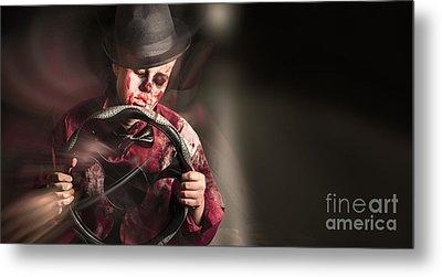 Car Crash Driver Dead Behind The Steering Wheel Metal Print by Jorgo Photography - Wall Art Gallery