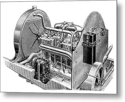 Car Engine And Magneto Metal Print