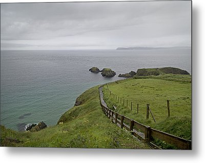 Carrick-a-rede Path Ireland Metal Print