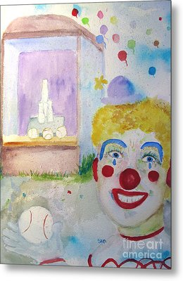 Carrie The Clown Metal Print by Sandy McIntire