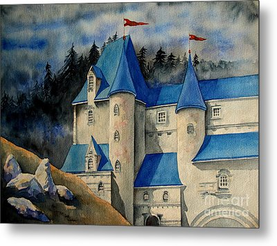 Castle In The Black Forest Metal Print by Ranjini Kandasamy