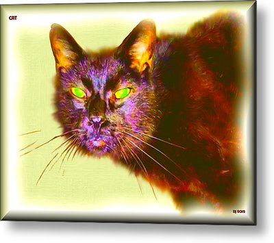 Metal Print featuring the digital art Cat by Daniel Janda