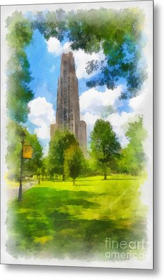 Cathedral Of Learning University Of Pittsburgh Metal Print by Amy Cicconi