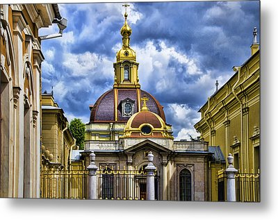 Cathedral Of Saints Peter And Paul - St. Petersburg Russia Metal Print by Jon Berghoff