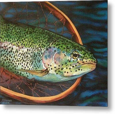 Caught On Canvas Metal Print
