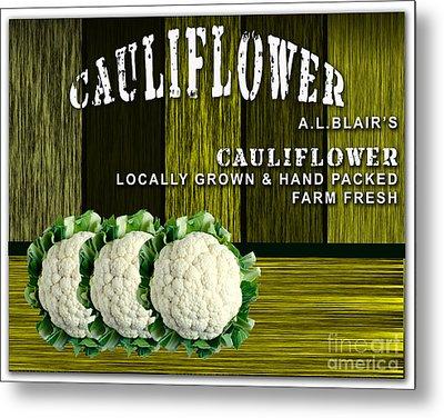 Cauliflower Farm Metal Print by Marvin Blaine