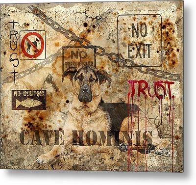 Cave Hominis Metal Print by Judy Wood