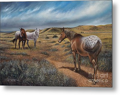 Cayuse Country Metal Print by Ricardo Chavez-Mendez