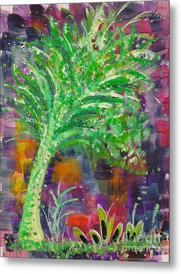 Metal Print featuring the painting Celery Tree by Holly Carmichael
