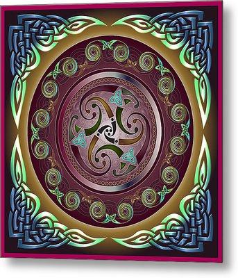 Celtic Pattern Metal Print