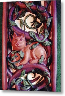 Celtic Tree Of Life Detail Metal Print by Charles Lucas