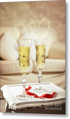 Champagne Metal Print by Amanda Elwell