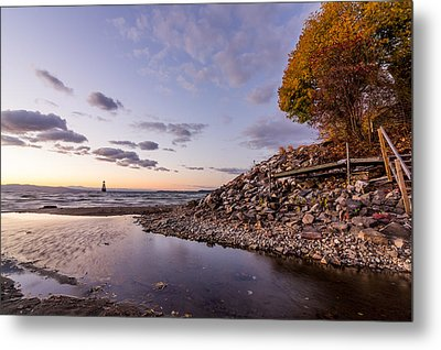 Metal Print featuring the photograph Champlain Twilight by Jeremy Farnsworth