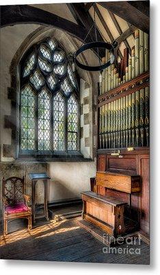 Chapel Organ Metal Print