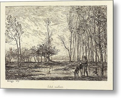 Charles-françois Daubigny French, 1817 - 1878 Metal Print by Quint Lox