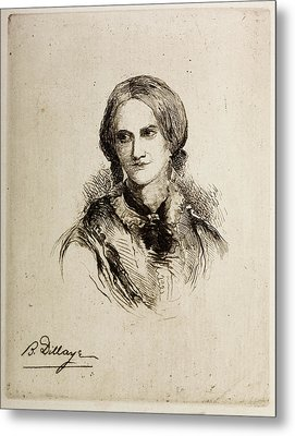 Charlotte Bronte Metal Print by British Library