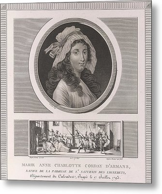 Charlotte Corday Metal Print by British Library