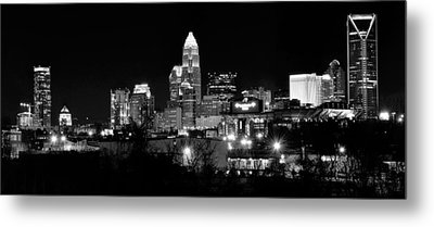 Charlotte Panoramic In Black And White Metal Print by Frozen in Time Fine Art Photography