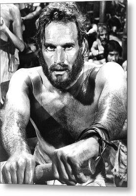 Charlton Heston In Ben-hur  Metal Print by Silver Screen