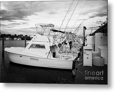 Charter Fishing Boats Charter Boat Row City Marina Key West Florida Usa Metal Print by Joe Fox