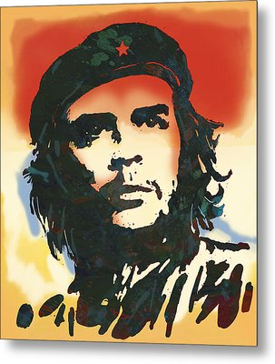 Che Guevara Stylised Modern Drawing Art Sketch Metal Print