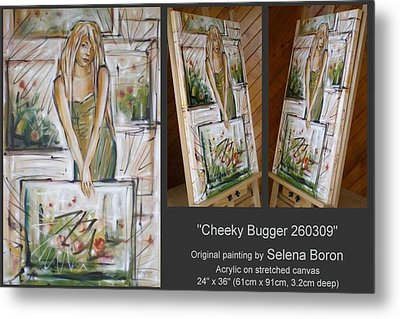 Metal Print featuring the painting Cheeky Bugger 260309 by Selena Boron