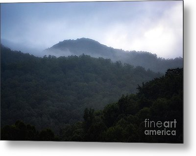 Cherokee Mountains Metal Print by Eva Thomas