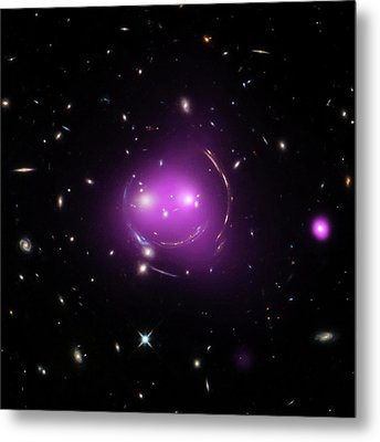 Cheshire Cat Galaxy Group Metal Print