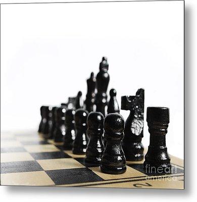 Chess Metal Print by Jelena Jovanovic