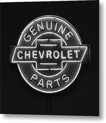 Chevrolet Neon Sign Metal Print by Jill Reger