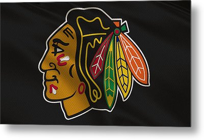 Chicago Blackhawks Uniform Metal Print by Joe Hamilton