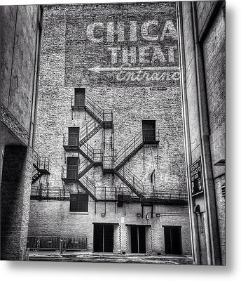 Chicago Theatre Alley Entrance Photo Metal Print by Paul Velgos