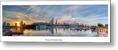 Chicago From Burnham Harbor Metal Print by Twenty Two North Photography