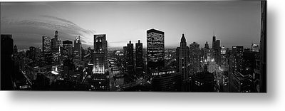 Chicago, Illinois, Usa Metal Print by Panoramic Images
