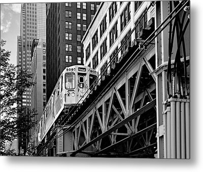Chicago Loop 'l' Metal Print by Christine Till