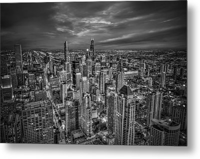 Chicago Skyline Metal Print by Alexander Hill
