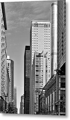 Chicago State Street - That Great Street Metal Print