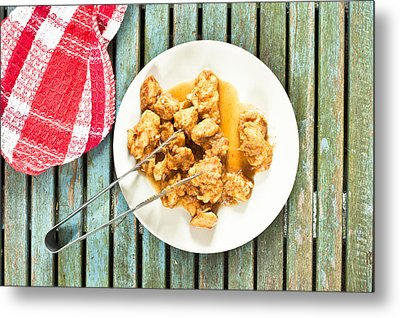 Chicken Meal Metal Print