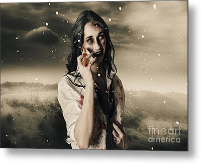 Chill Of Death In Mourning Metal Print by Jorgo Photography - Wall Art Gallery