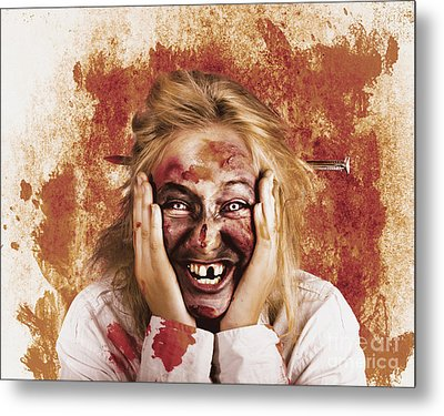 Chilling Female Halloween Spook. Grunge Horror Metal Print by Jorgo Photography - Wall Art Gallery