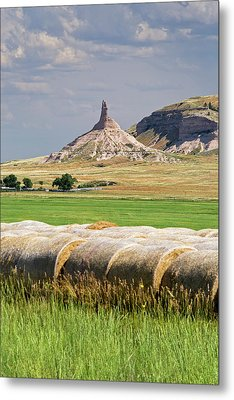 Chimney Rock Metal Print by Jim West