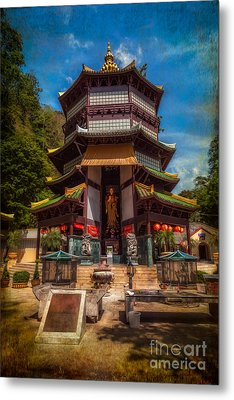 Chinese Temple Metal Print by Adrian Evans