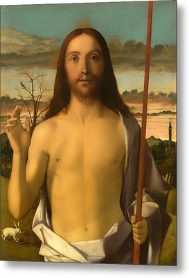 Christ Blessing Metal Print by Mountain Dreams