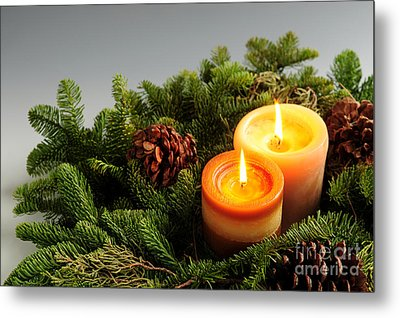 Christmas Candles Metal Print
