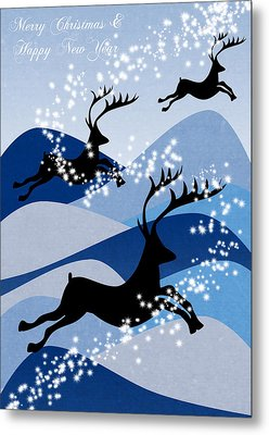 Christmas Card 2 Metal Print by Mark Ashkenazi