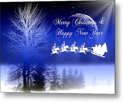 Christmas Card 3 Metal Print by Mark Ashkenazi