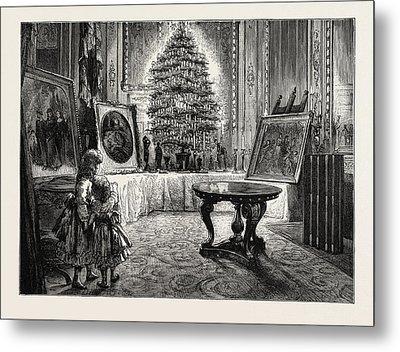 Christmas Eve At Windsor Castle Metal Print