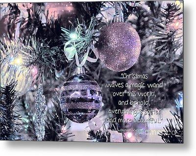 Christmas Magic Metal Print by Peggy Hughes