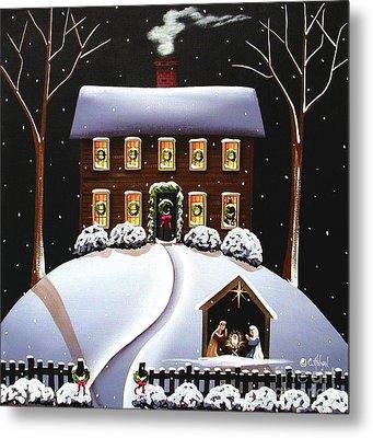 Christmas Nativity Metal Print by Catherine Holman