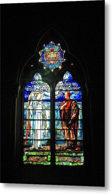Church Of The Covenant Stained Glass 11 Metal Print